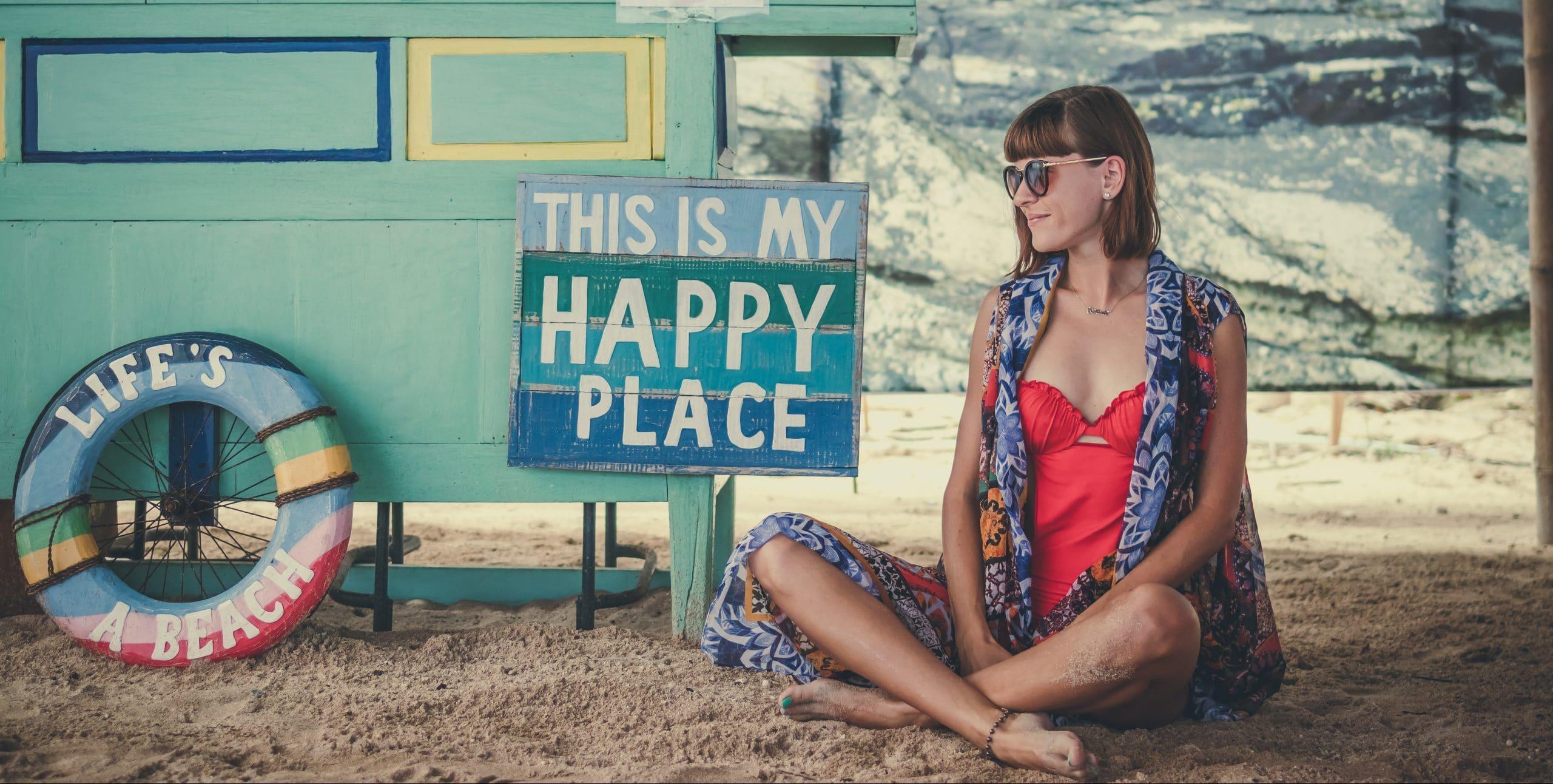 wellbeing on a beach